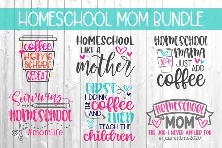 Homeschool Mom Bundle SVG DXF PNG