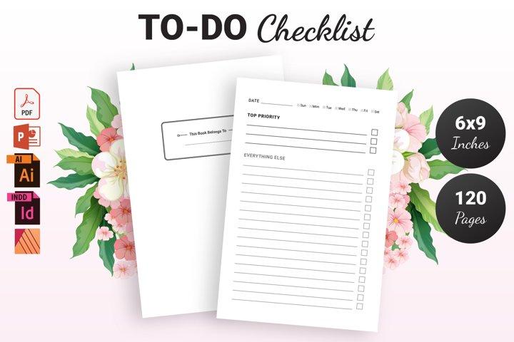 To Do Checklist - KDP Interior