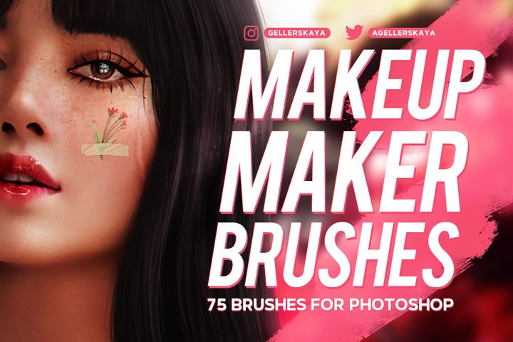 Makeup Maker Brushes for Photoshop