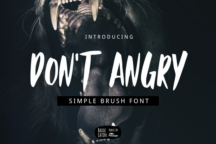Dont Angry Font
