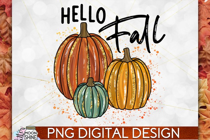 Hello Fall PNG Sublimation Design