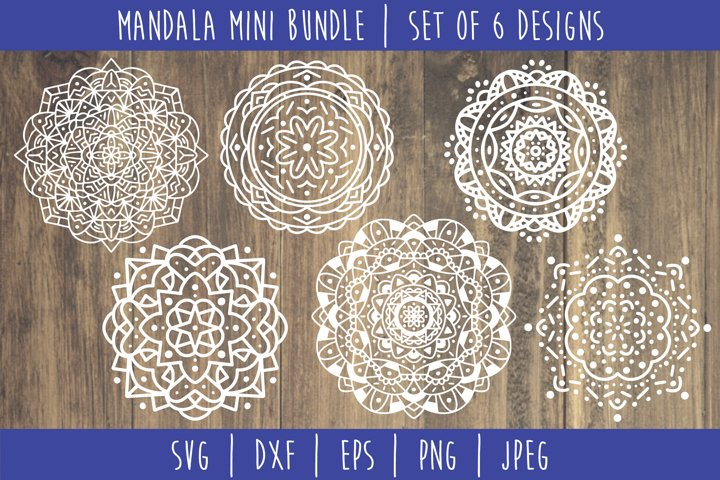 Mandala Mini Bundle Set of 6- SVG example