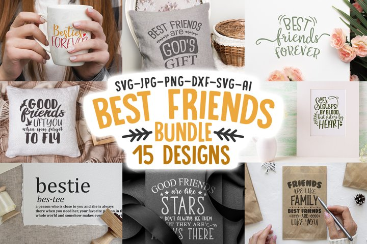 Best Friends SVG Quotes Bundle