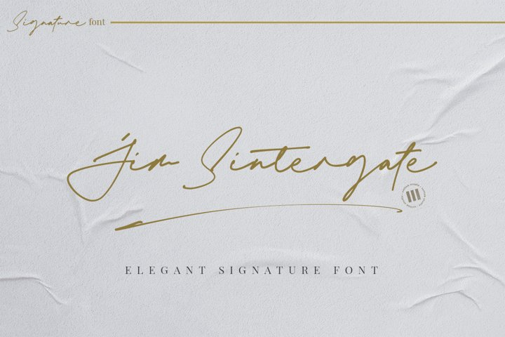 Jim Sintergate - An Elegant Signature Font