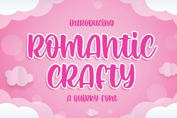 Romantic Crafty - a Quirky Font