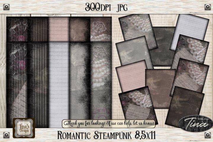 Romantic Steampunk 8.5x11 Collage Mauve Grunge 101918RS8