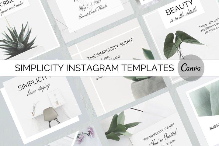 Simplicity Instagram Templates