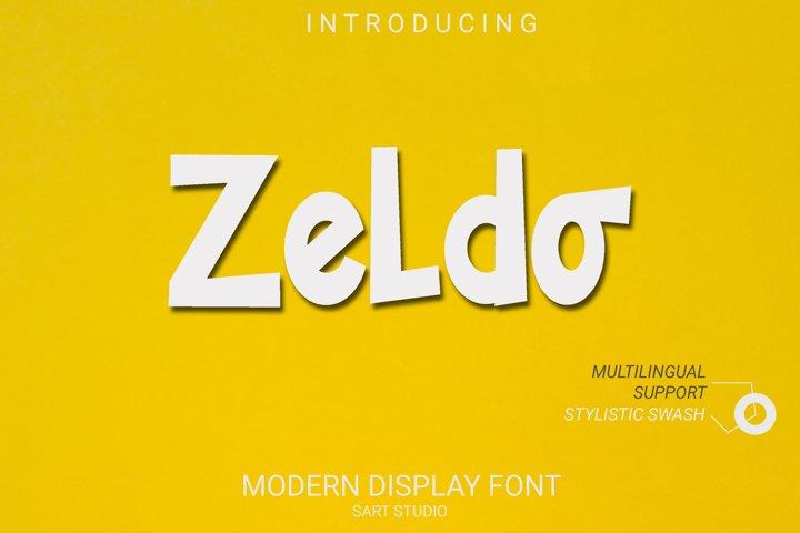 Zeldo - New Display Font