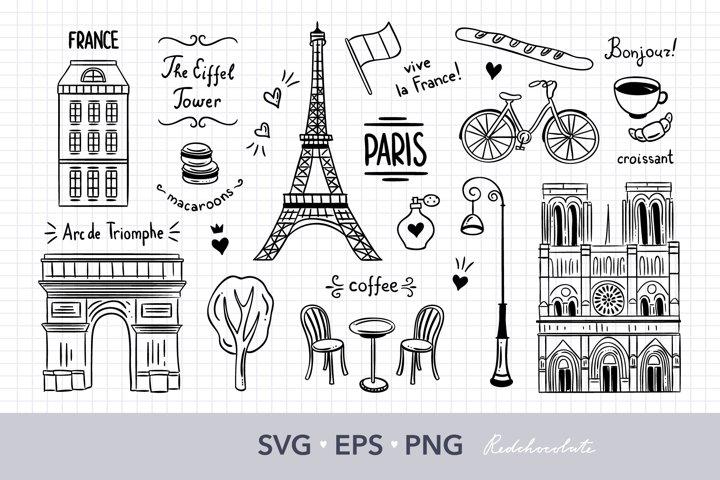 Paris svg files for cricut Paris PNG files travel clip art