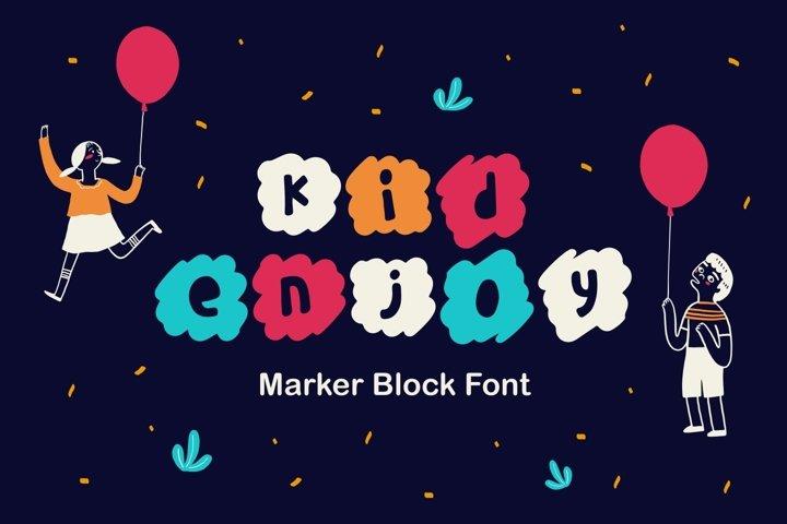 Kidenjoy - Marker Block Font