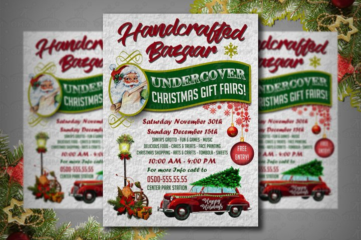 Holiday Craft Fair Flyer, Christmas Bazaar Flyer, Craft Fair