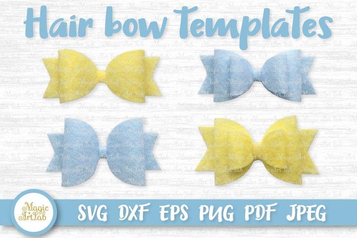 Hair bow svg, Hair bow template, Classic hair bow svg file