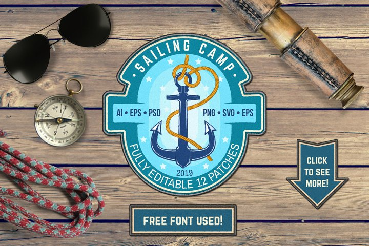 Sailing Camp Patches