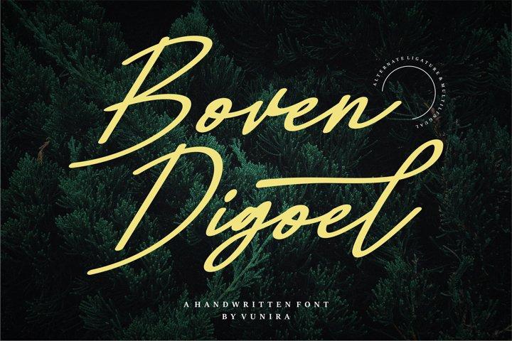 Boven Digoel | A Handwritten Font
