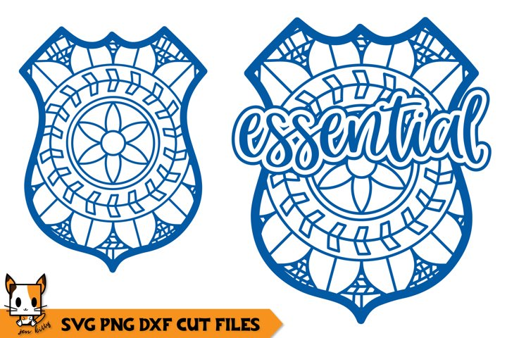 Police Badge Mandala - Essential SVG File
