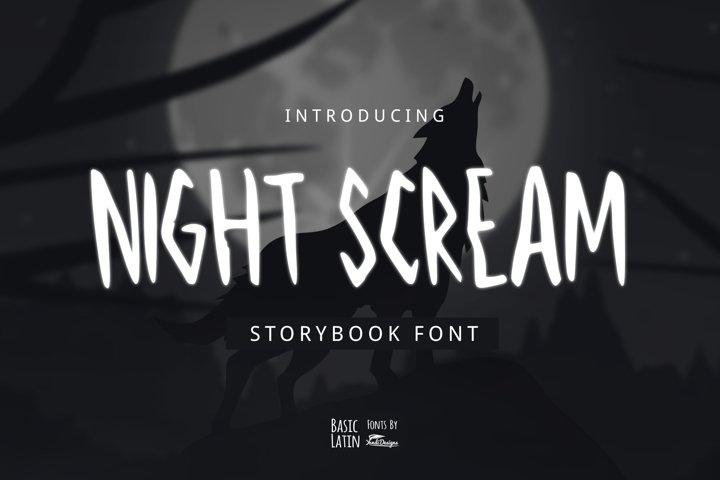 Night Scream Font