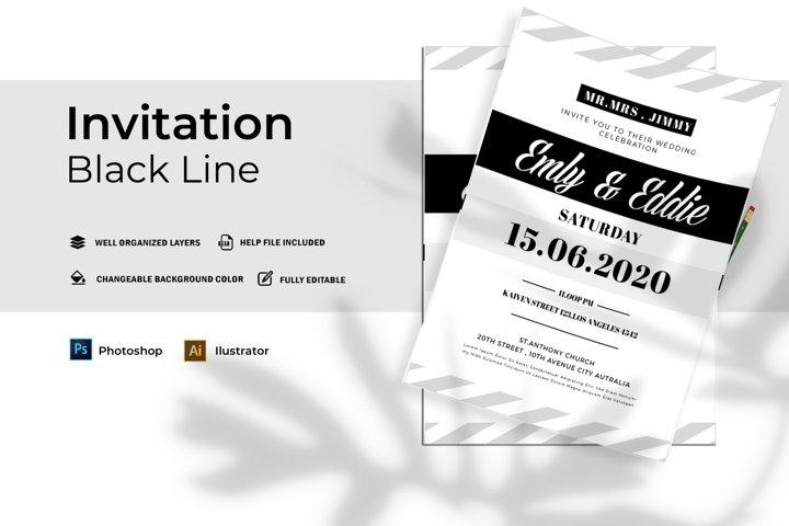 Black Line | Invitation