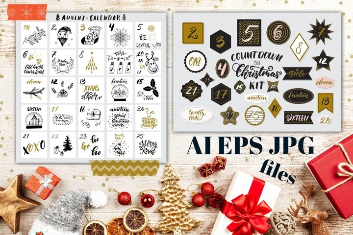 Christmas Countdown Kit AI/EPS/JPG