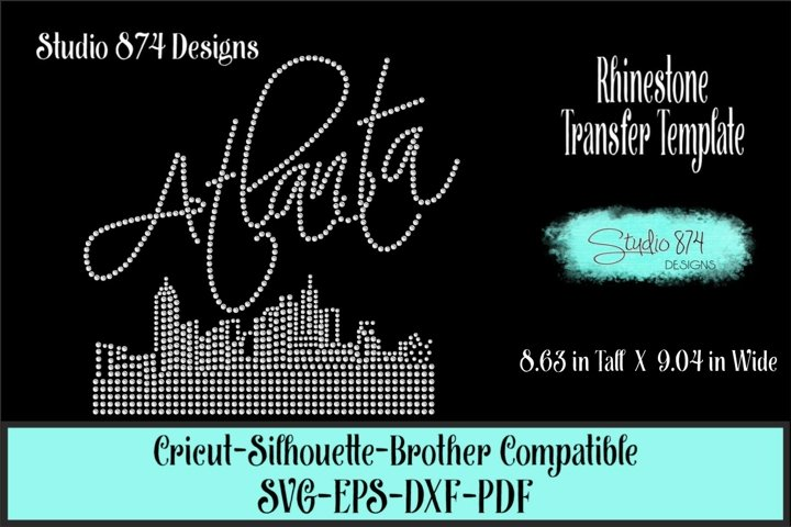 Atlanta Skyline Rhinestone SVG Template