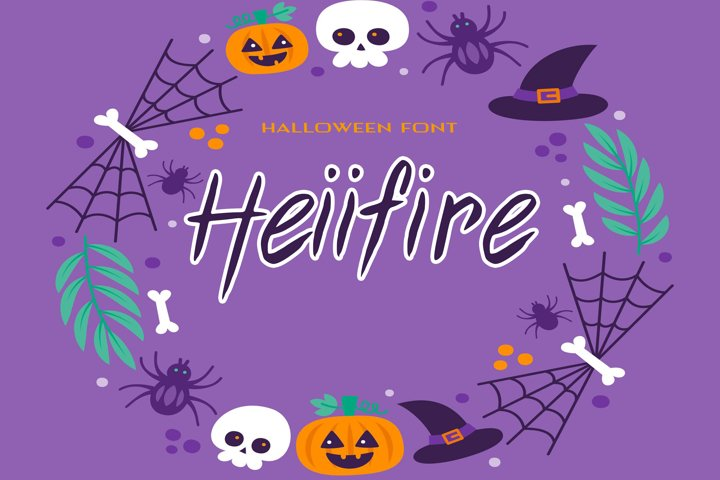 Heiifire Halloween Font