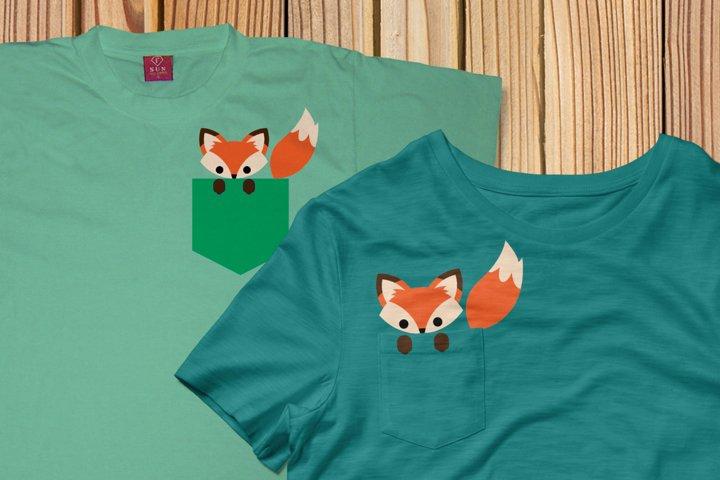 Pocket Fox SVG Design