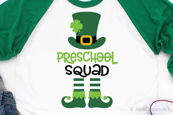 Preschool Squad with Leprechaun SVG, DXF, PNG, EPS