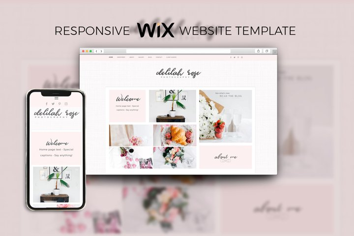 Wix Website Template for Photographers