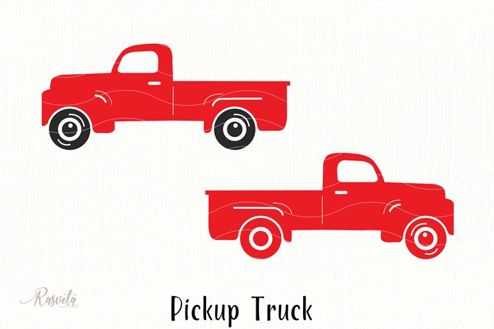 Vintage Pickup Old Farm Truck Clipart