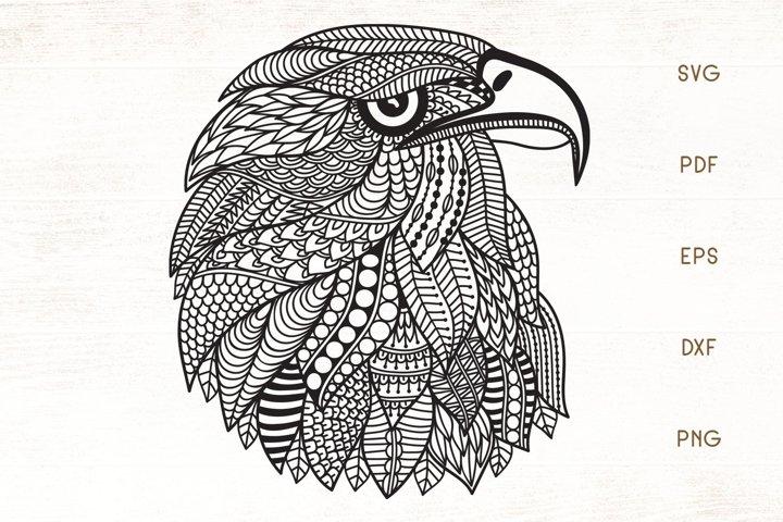 Eagle SVG - Zentangle Eagle SVG - Eagle Head Zentangle