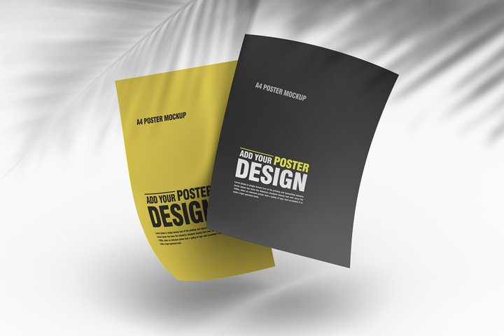 10 psd flyer and poster mockups