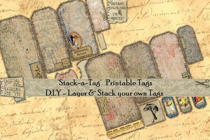 Tags | Junk Journal Ephemera | Scrapbooking |Printables