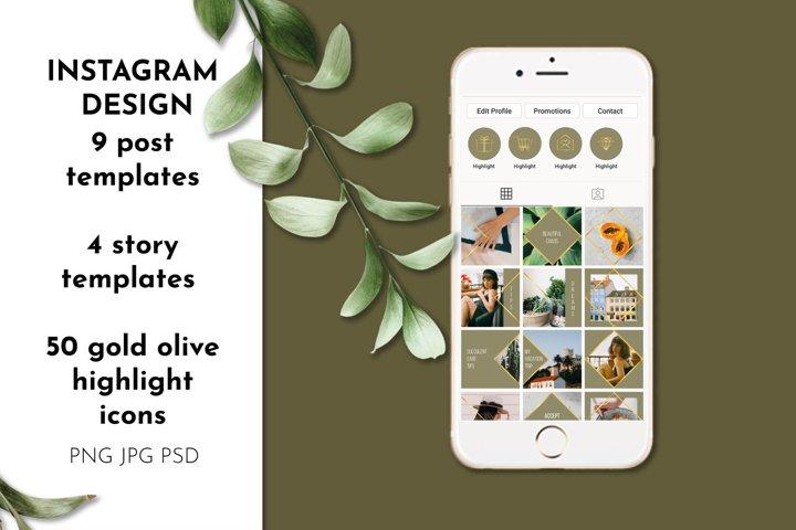 Instagram puzzle 50 highlight icons set Instagram templates