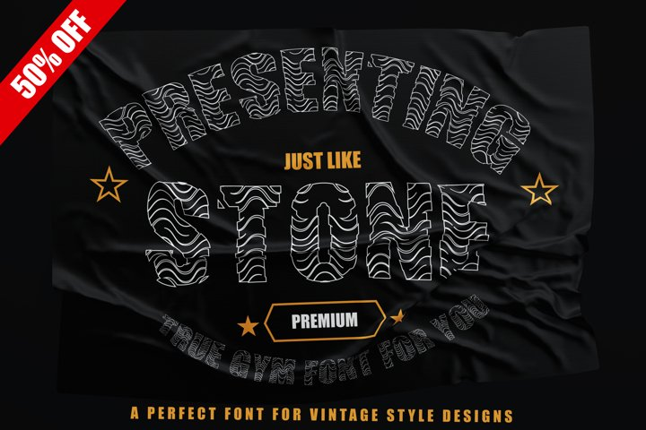Just Like Stone - Creative Vintage Font for Designs