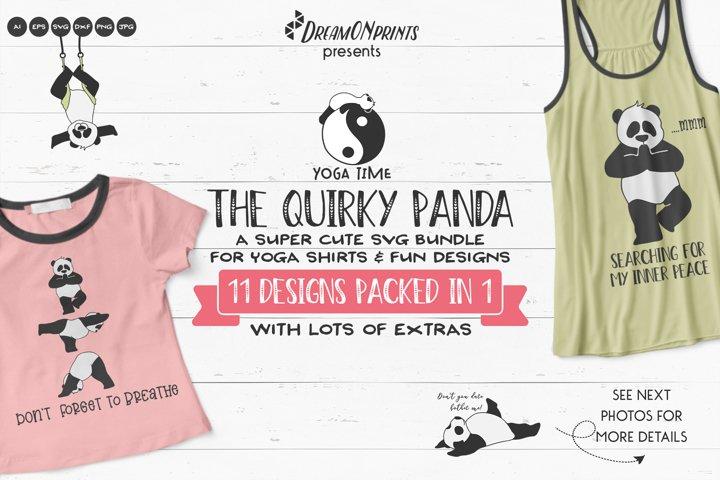 The Quirky Panda   Fun Yoga SVG Bundle