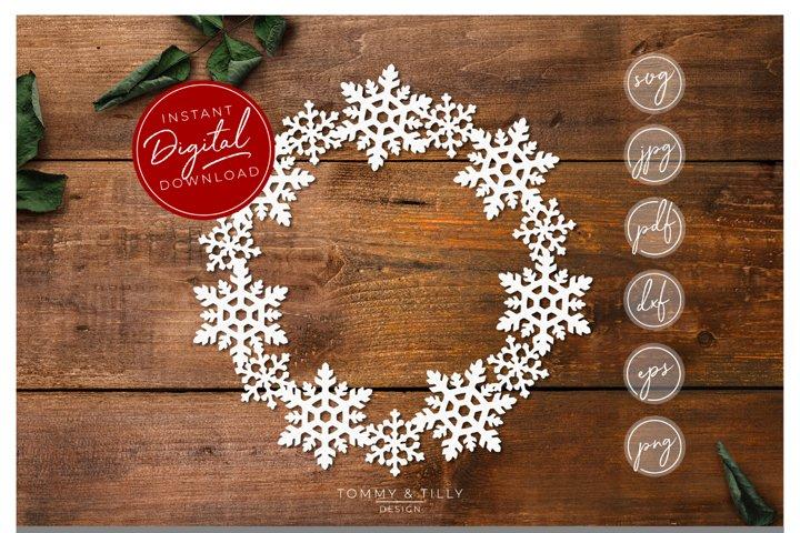 Snowflake Wreath - SVG EPS DXF PNG PDF JPG example 2
