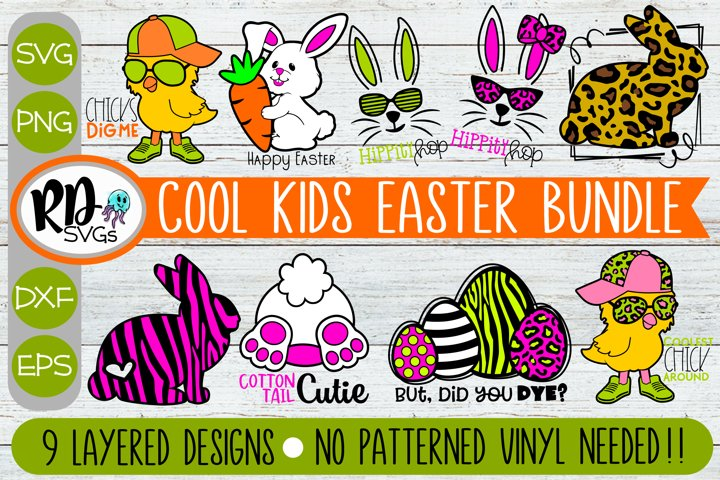 Cool Kids Easter Bundle - A Set of Layered Cricut SVGs