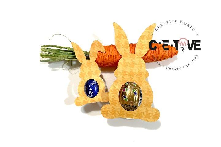Easter Bunny Chocolate Egg Template | Chocolate Egg svg