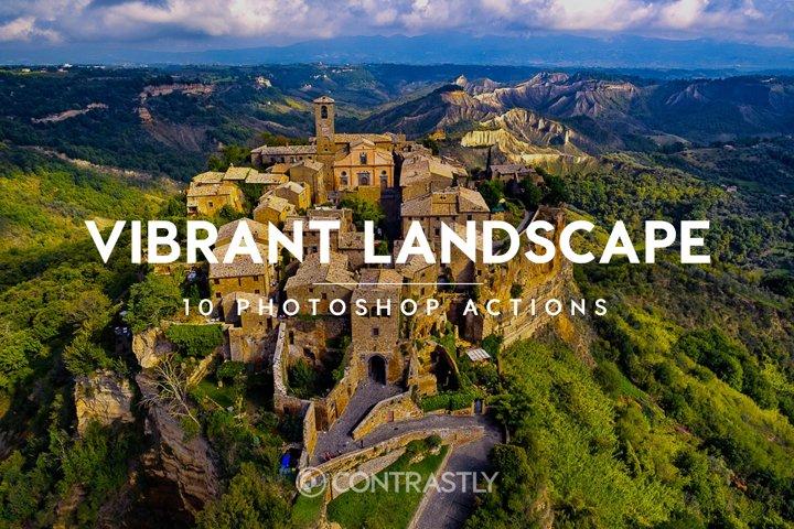 Vibrant Landscape Photoshop Actions