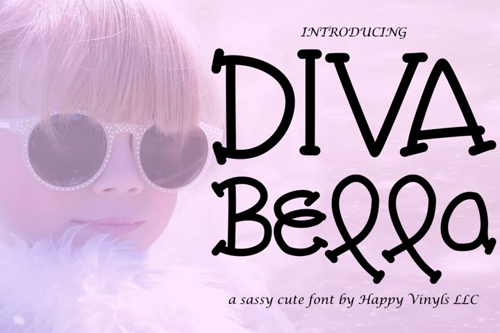 Diva Bella - A Cute and Sweet Hand Drawn Font
