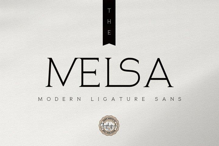 The Melsa - Modern Ligature Sans