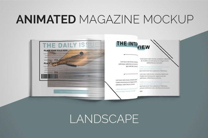 Animated Magazine Mockup | Landscape