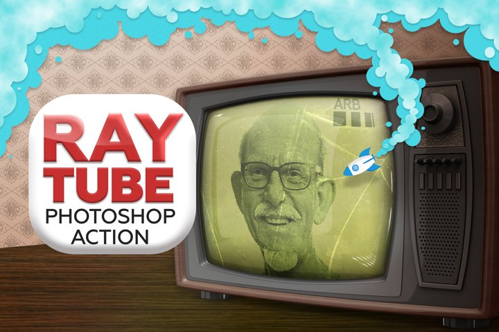 Ray Tube Photoshop Action