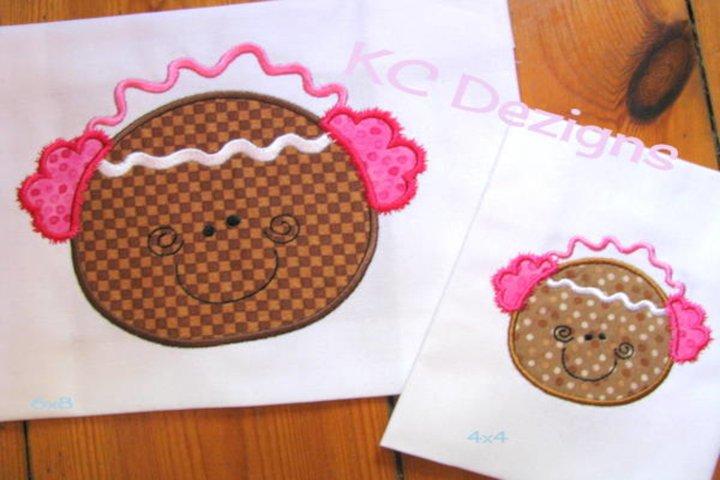 Winter Ginger 02 Machine Applique Embroidery Design