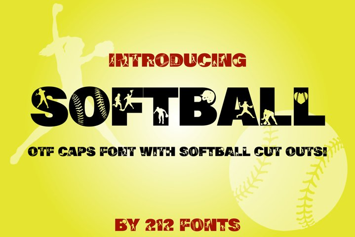 212 Softball Caps Display Font Softball Player Alphabet OTF