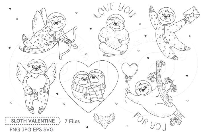 Clip art Sloth Valentine