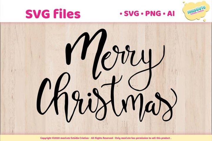 Merry Christmas - SVG Hand Lettered Pack