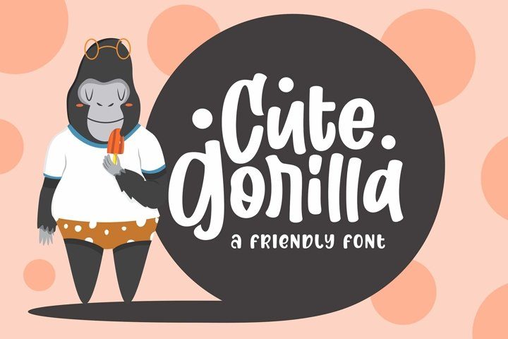 Cute Gorilla / Quirky Font