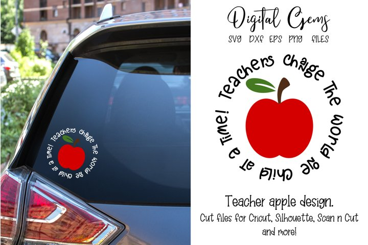 Teacher, Apple SVG / EPS / DXF / PNG Files