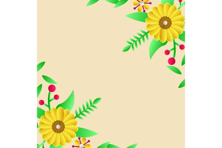Floral Greeting Card Template Design 03 Graphic