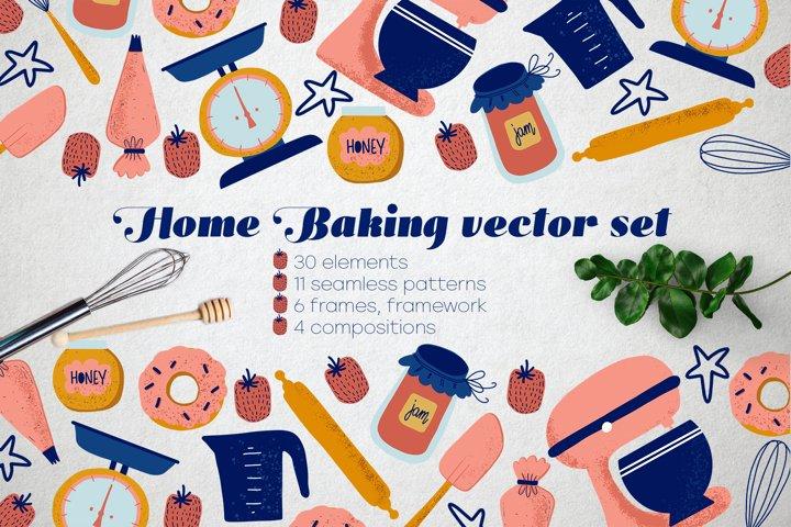 Home Baking vector set